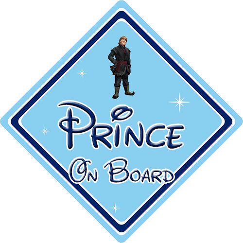 Disney Prince À Bord Voiture Signe-Bébé à bord-Frozen Kristoff