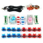 Arcade DIY Parts USB Encoder + 2 Joystick + 20 LED Illuminated Push Buttons MAME