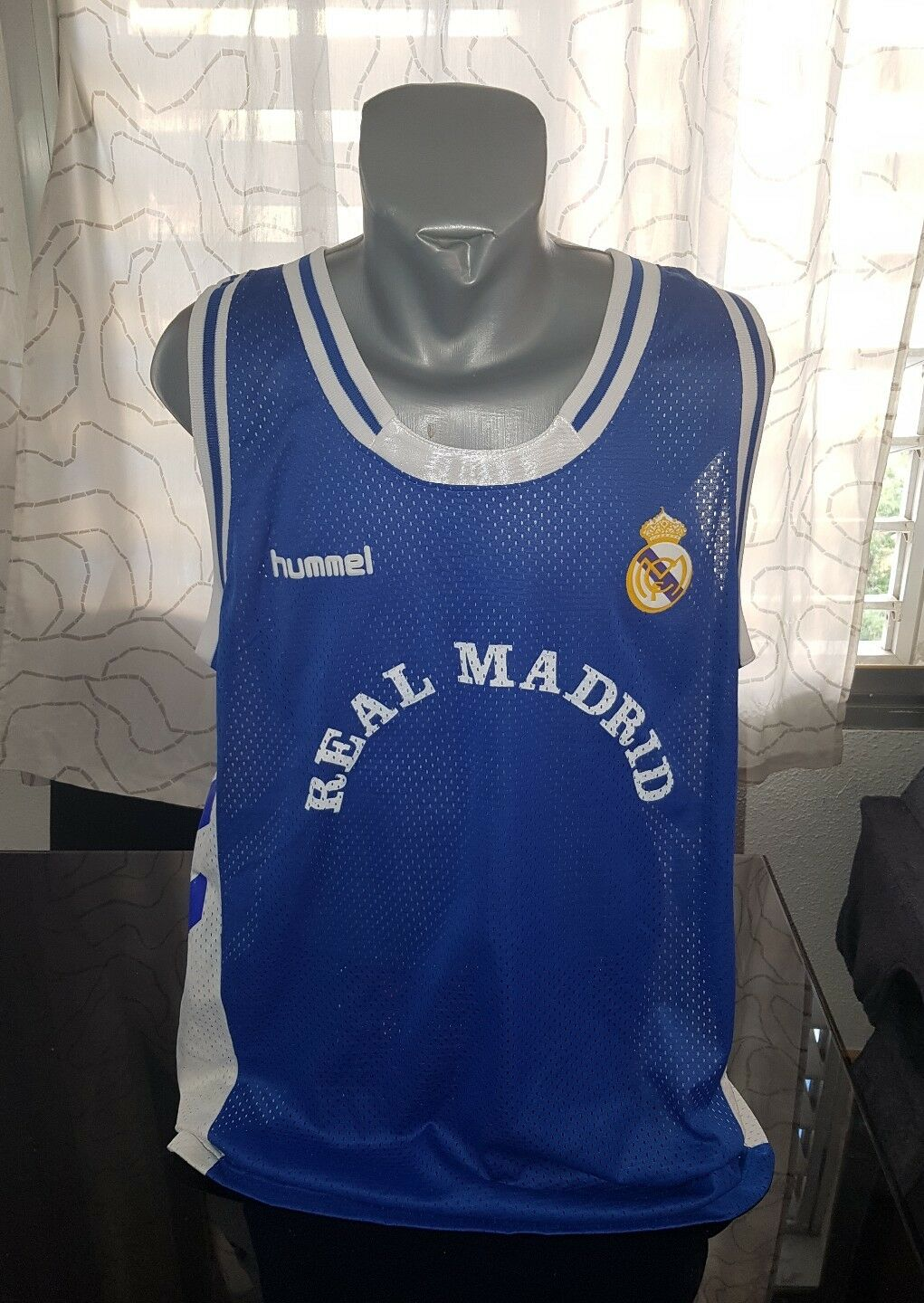 CAMISETA SHIRT VINTAGE 90'S HUMMEL REAL MADRID BASKETBALL ACB TALLA XXL