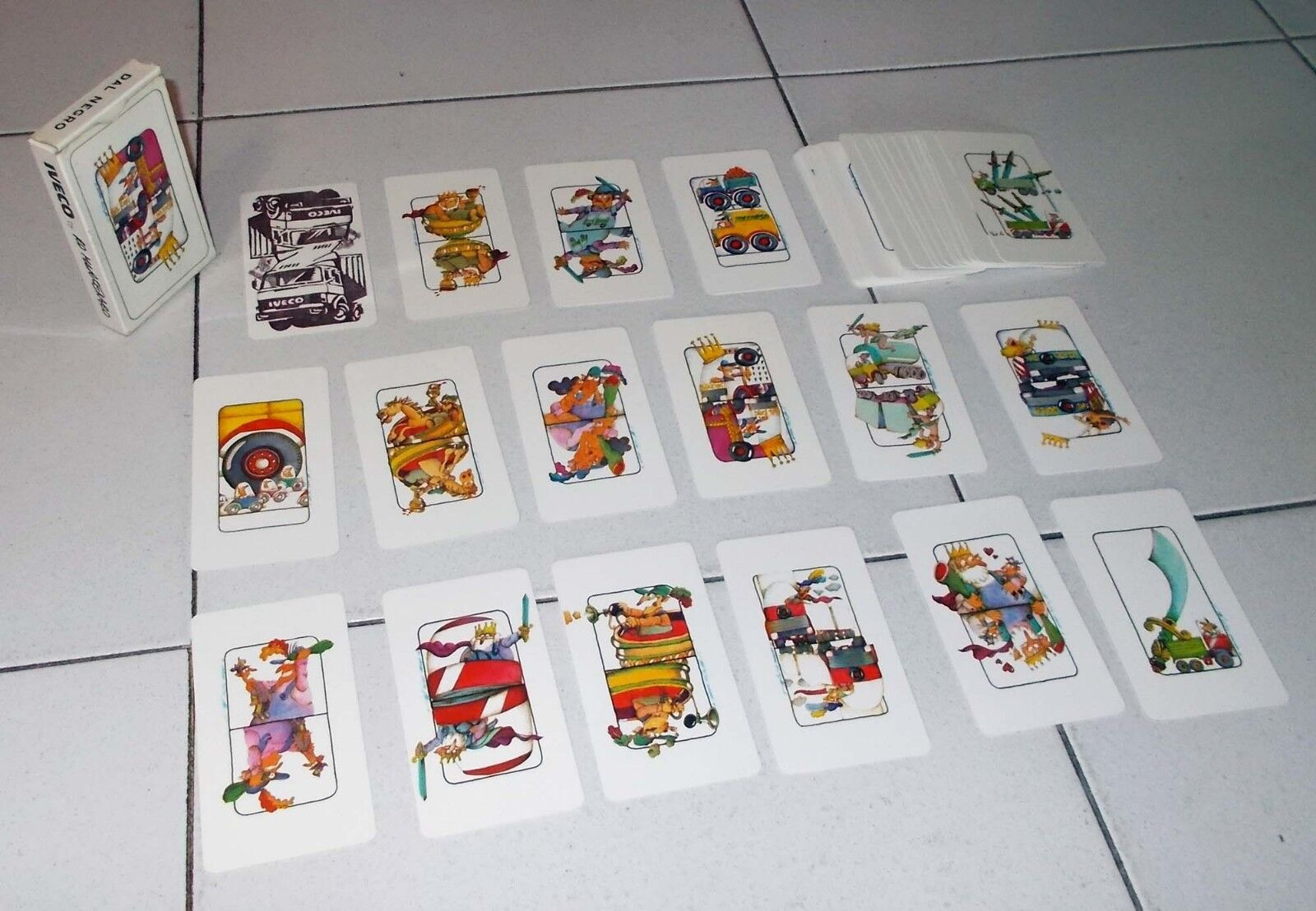 Karten FIAT iveco by ro Machado - neu 40 Spielkarten FCA