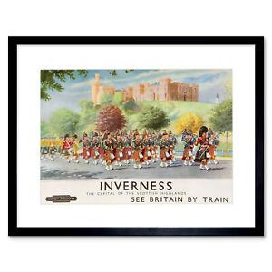 Travel-Inverness-British-Railways-Scotland-Highlanders-Framed-Art-Print-12x16-034