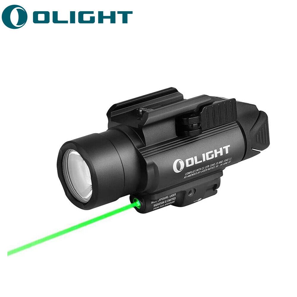 OLIGHT Baldr Pro 1350lm Luz linternapistolaglock montada en riel láser verde
