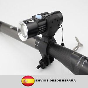 Luz-de-La-Bicicleta-de-2000-Lumenes-Recargable-USB-Delantera-de-la-Bici-lampara