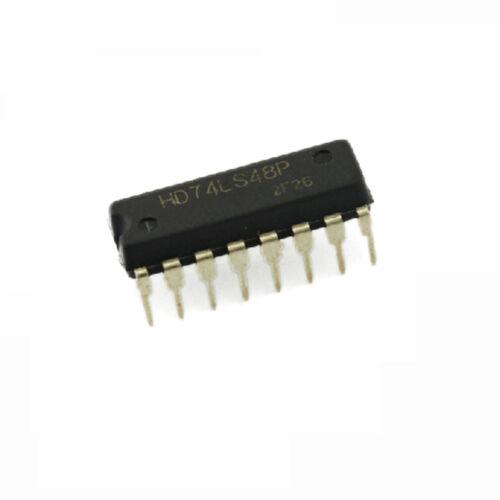 2PCS 100/% original HITACHI 74LS48 DIP16 DIP-16 IC NEW