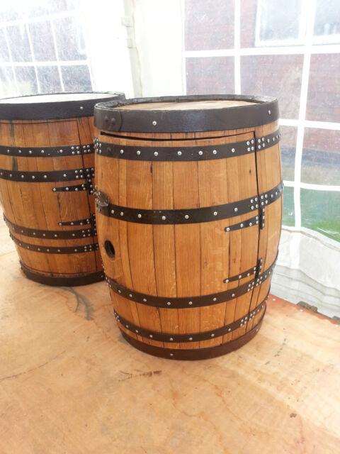 Recycled Solid Oak Whiskey Pub Barrelwine Rack Drinks Cabinet Cask Keg