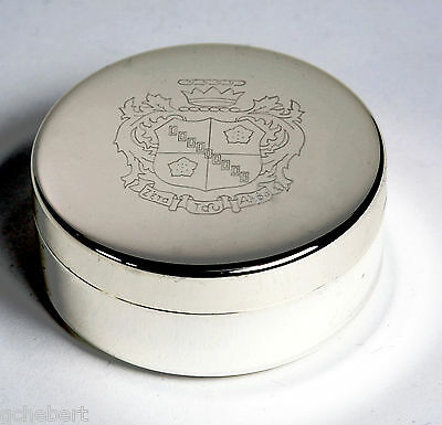 Zeta Tau Alpha, ΖΤΑ, Engraved Crest Small Jewelry/Pin Box Silver Plate