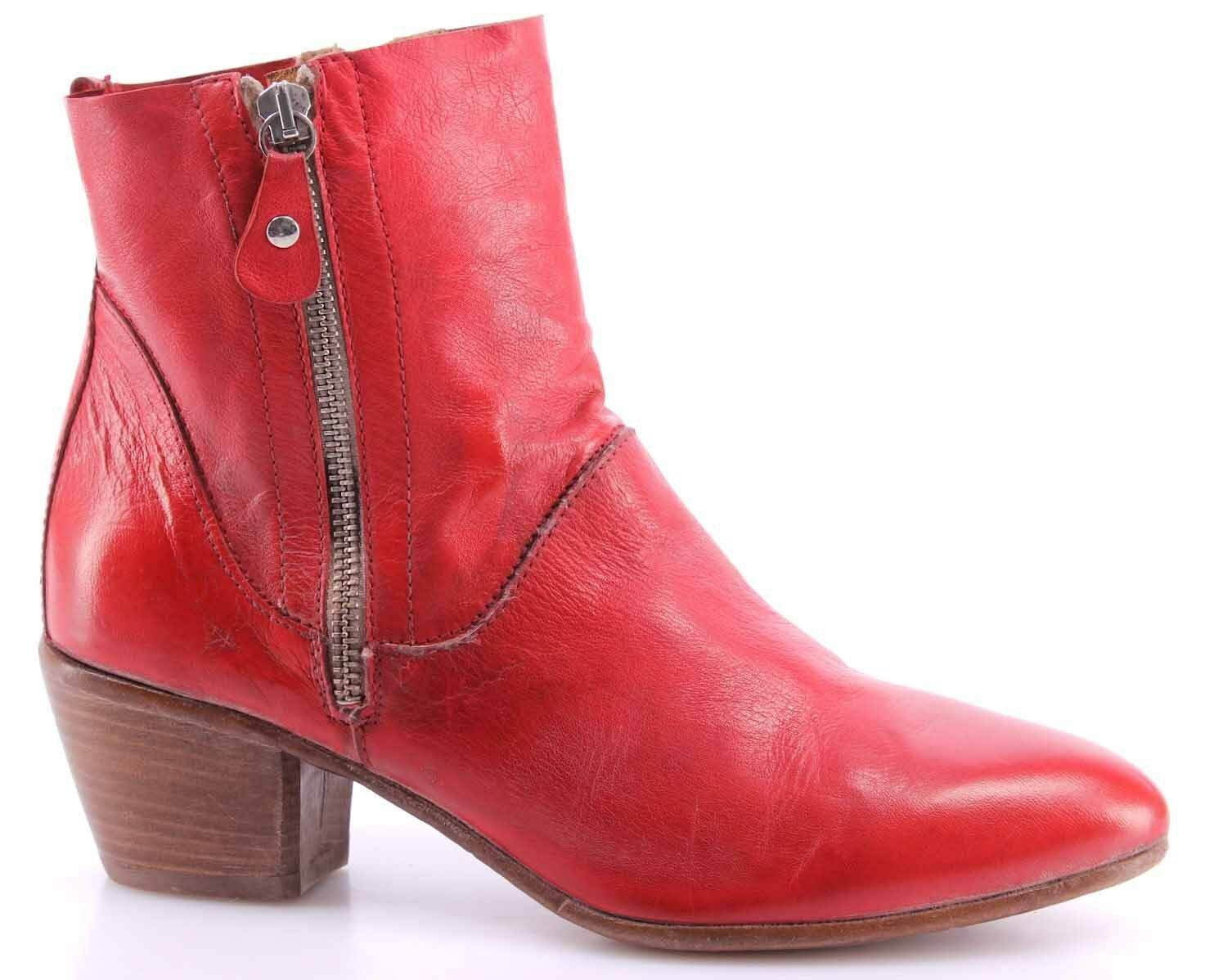 Women's shoes Ankle Boots MOMA 49501-8F 49501-8F 49501-8F Siviglia red Vintage Leather Red New b15643