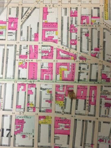 1888 PHILADELPHIA BRISTOL MICHAEL/'S ACADEMY PENNSYLVANIA PLAT ATLAS MAP ST