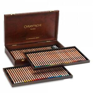 CARAN d'Ache Artista Matite Di Colore 76 luminanza in legno GIFT BOX SET VASSOIO 6901