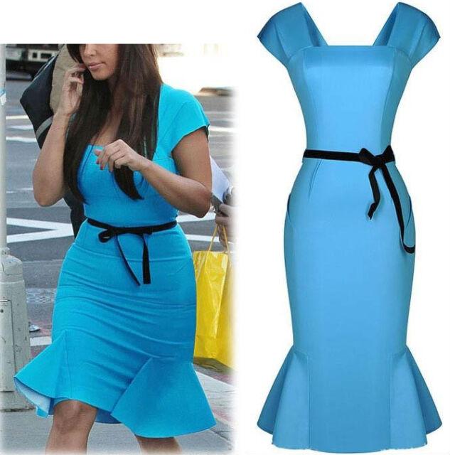 Vestito Estate Lavoro Casual Donna Blu - Woman Summer Dress - 110041