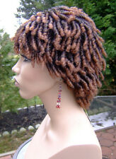 Dreadlocks  Dreads .. Rachel Wig . Hot!!  1BT30 -Black tipped with Med. Auburn *