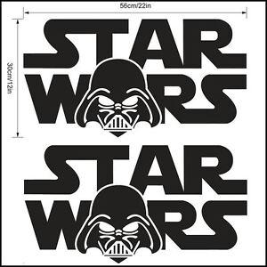 starwars logo wall sticker 55x30cm 22x12 inch star wars darth vader
