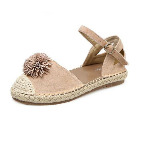 Sandals Elegant Low Comfortable Beige Leather Rope Synthetic 9678