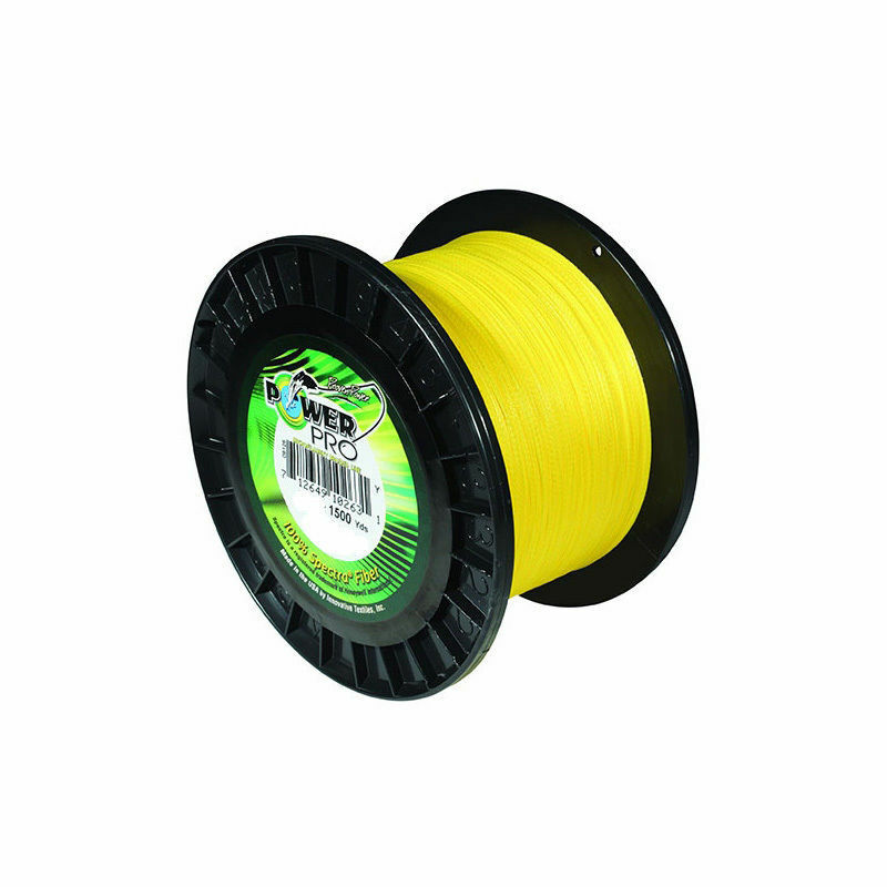 Power Pro Original Fishing Line 80lb 1500yd 37kg 1370m Hi-Vis YELLOW 80-1500y