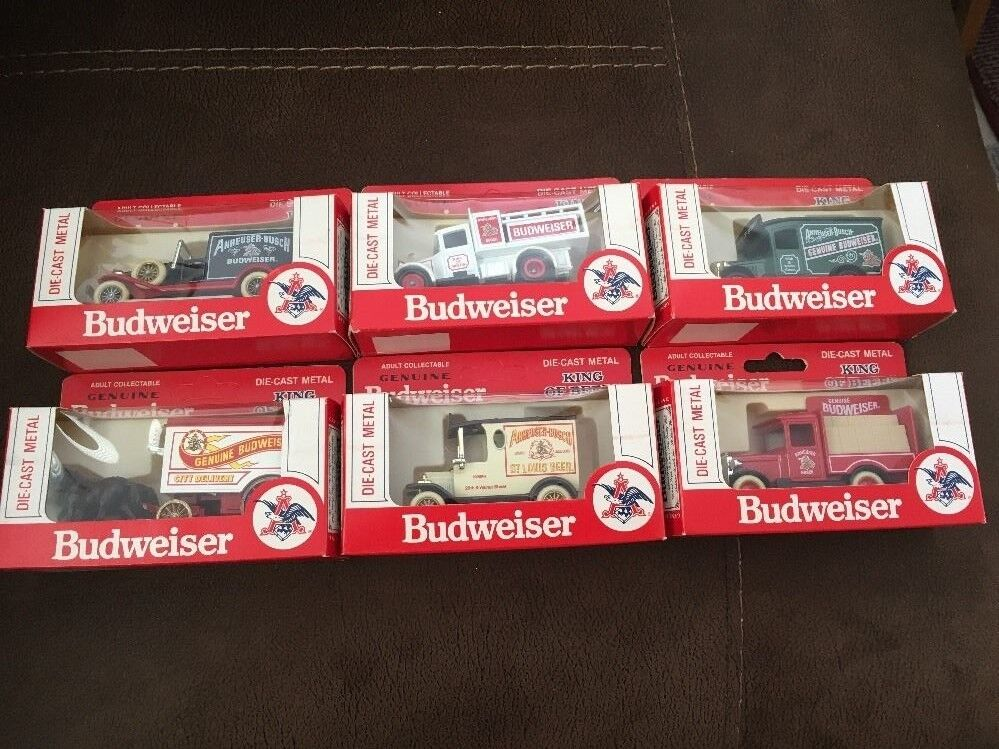 6 Budweiser 1979 die-cast metal vehicles from Models of Days Gone - Hartoy Inc.