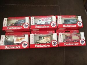 6 Budweiser 1979 Die Cast Metal Vehicles From Models Of Days Gone