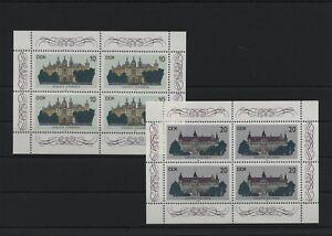 Germany-GDR-DDR-R-d-a-Vintage-1986-Mi-3032-3033-Feuilles-Miniature-Neuf