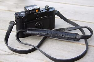 Leather-Camera-Strap-Black