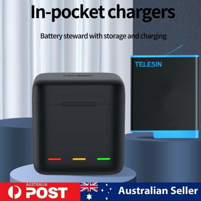 Telesin Battery Storage Charging Box Fits Gopro Hero9 (Battery Not Included) AU