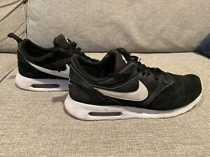 Nike Air Max Tavas Mens 802611-001 Black suede Leather Running Shoes - Size 10.5