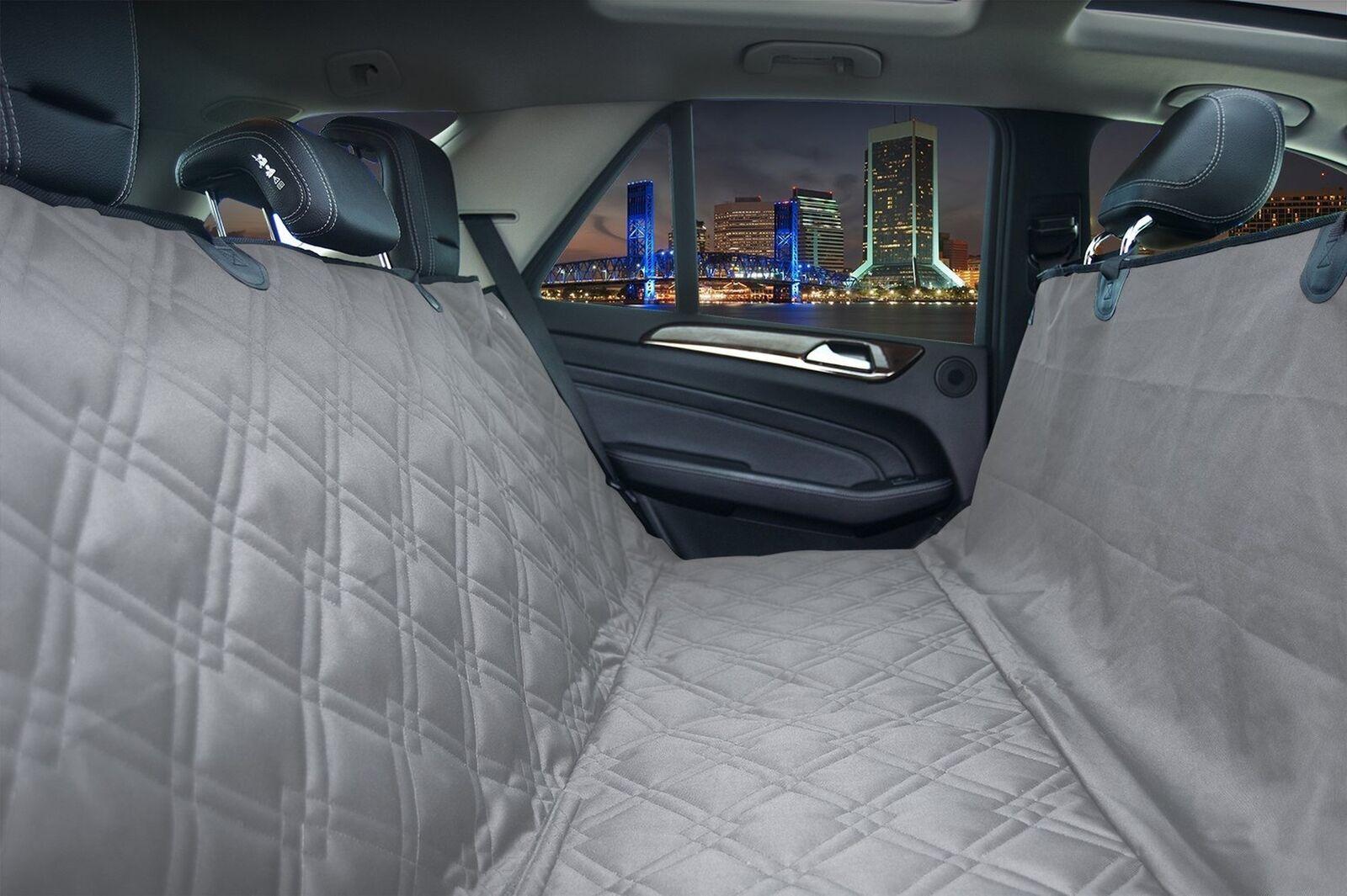 Bulldogology Heavy Duty Dog Car Seat Covers for All Vehicles XL 60x64  grigio