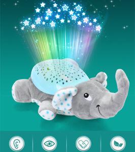 Children-LED-Night-Light-Bedroom-Lamp-Cloud-Star-Sky-Musical-Elephant-Toys-GG