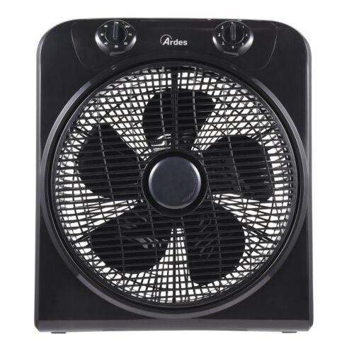 Ardes 5B30 Boxventilator Ventilator °30cm 3-Stufen 120min.Timer 40W Schwarz