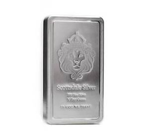 '10 oz Scottsdale STACKER® Silver Bar .999 Silver #A182' from the web at 'https://i.ebayimg.com/images/g/HFgAAOSwpDdVGzAz/s-l300.jpg'