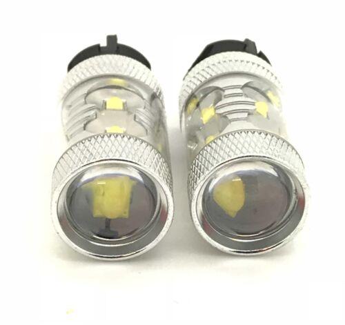 Pair Pw24W 50W Cree LED Bulbs Lamp Xenon White DRL Light Canbus Error Free