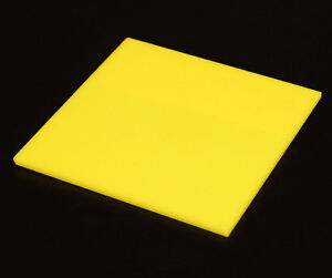 Acrylic Sheet Yellow Gloss 3mm thickness Perspex CAST UV Rated Supply FREE POS