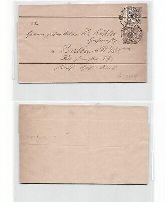 (b91414) Streifband An Geheimrath Hr. Köhler Berlin, 1901 Von Stuttgart M