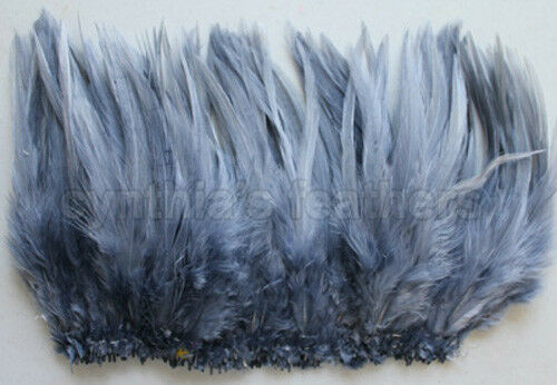 "9g, 0.32Oz 100+ Silver Gray 5-7/"" saddle COQUE rooster Feathers for crafting"