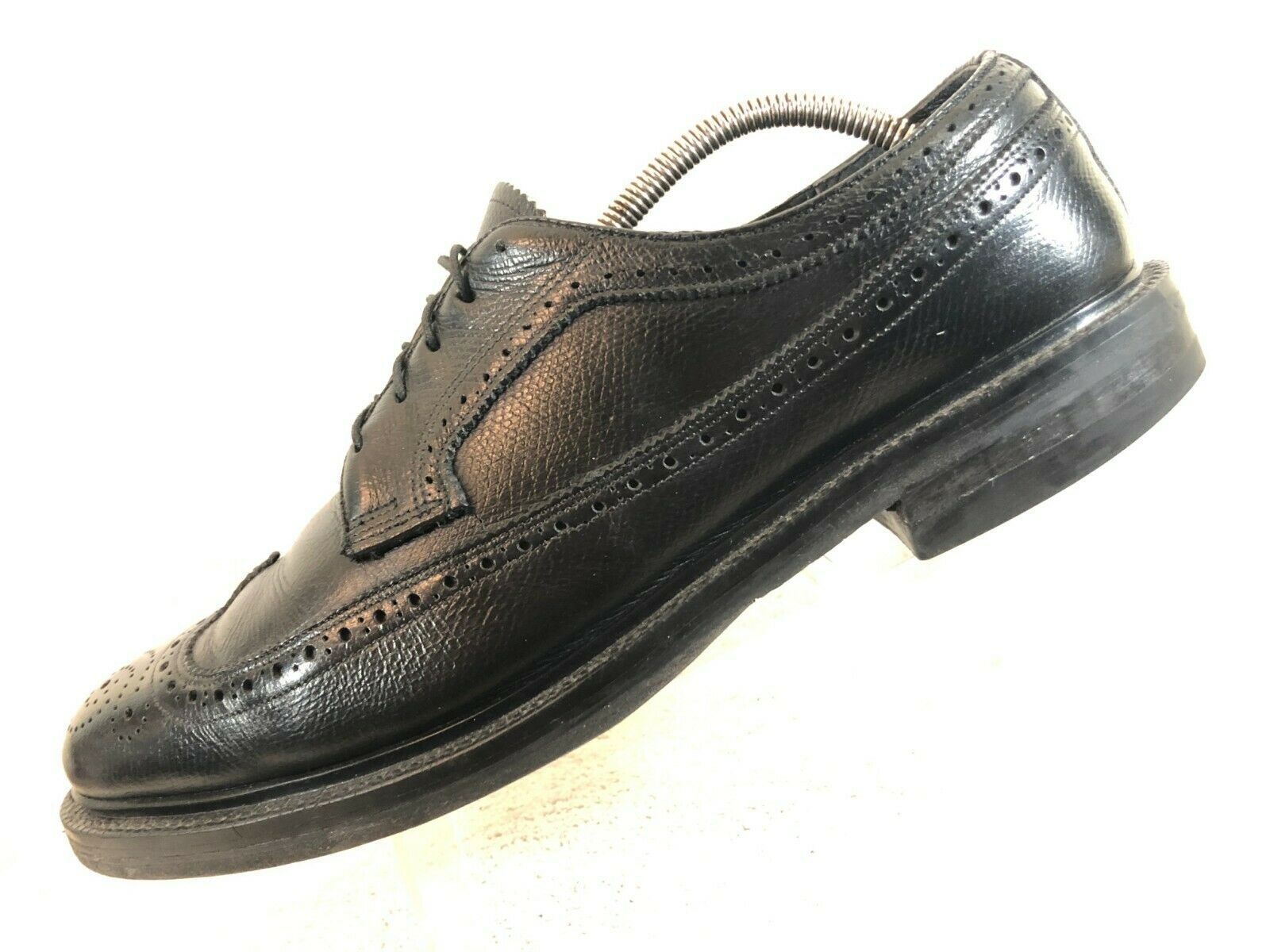 Executive Imperial Black Grain Leather Longwing Derby Oxford Men's 10 D