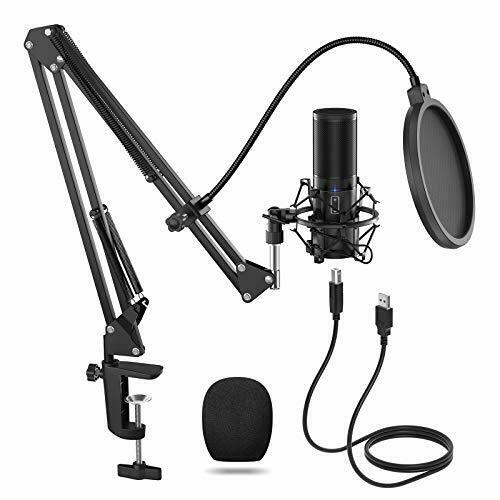 Game, TONOR USB Microphone Kit Q9 Condenser Computer Cardioid Mic for Podcast