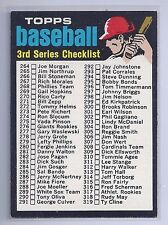 1971 Topps #206 Checklist 3rd series NM Plus