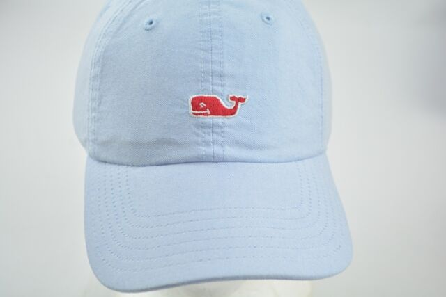 084a95bd6f090 NEW Vineyard Vines Women s Light Blue Whale Red Logo Oxford Baseball Cap Hat