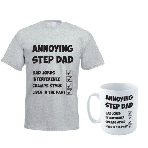 Nouveauté men/'s t-shirt et tasse ensemble Étape ennuyeux papa-Père famille DADDY