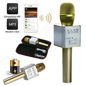 Q9-Wireless-Handheld-Microphone-Bluetooth-Portable-Karaoke-Effect-USB-Player-New