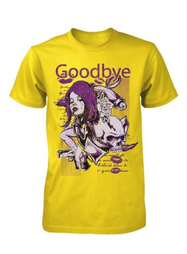 BNWT Adieu Lady Femme Lèvres Crâne Rock Band Goth Childs Enfants T Shirt 3-15 Ans
