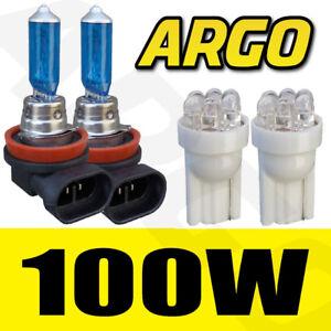 2-X-H11-100w-501-Luz-Lateral-LED-Blanco-Muy-Brillante-Faro-Xenon