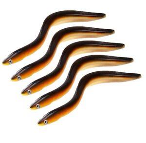 5PCS-Bass-Soft-Fishing-Lures-11-8-034-59g-Swim-Eel-Soft-Baits-Lifelike-Smell-Lure