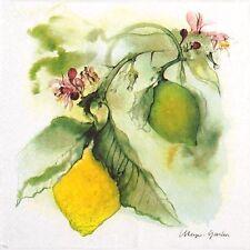 4 Tovaglioli di carta partito unico per Decoupage Decopatch artigianale dipinto Lemon