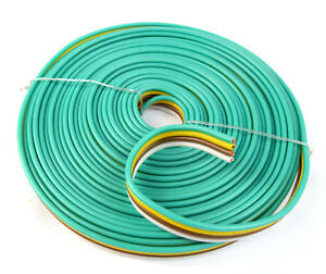 Flat Trailer Light Cable Wiring Harness 25ft 14 AWG 4 Wire 4 colors ...