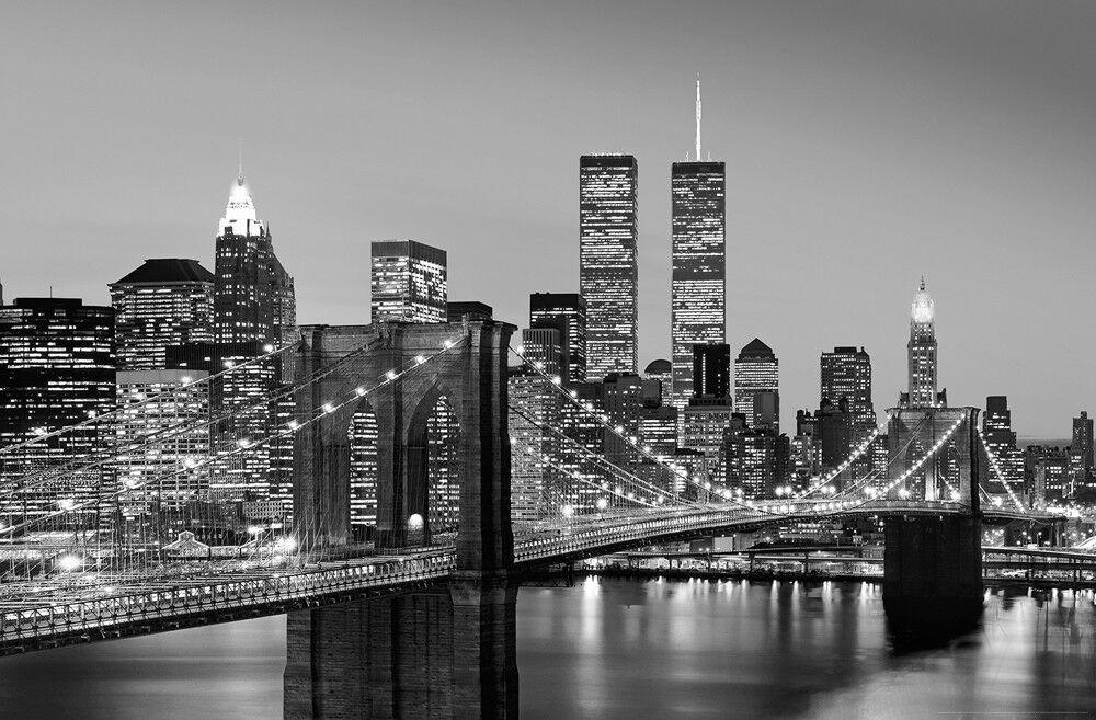Manhattan Skyline at Night Giant Art® XXL-Poster Wallpaper 175x115cm - 1-teilig