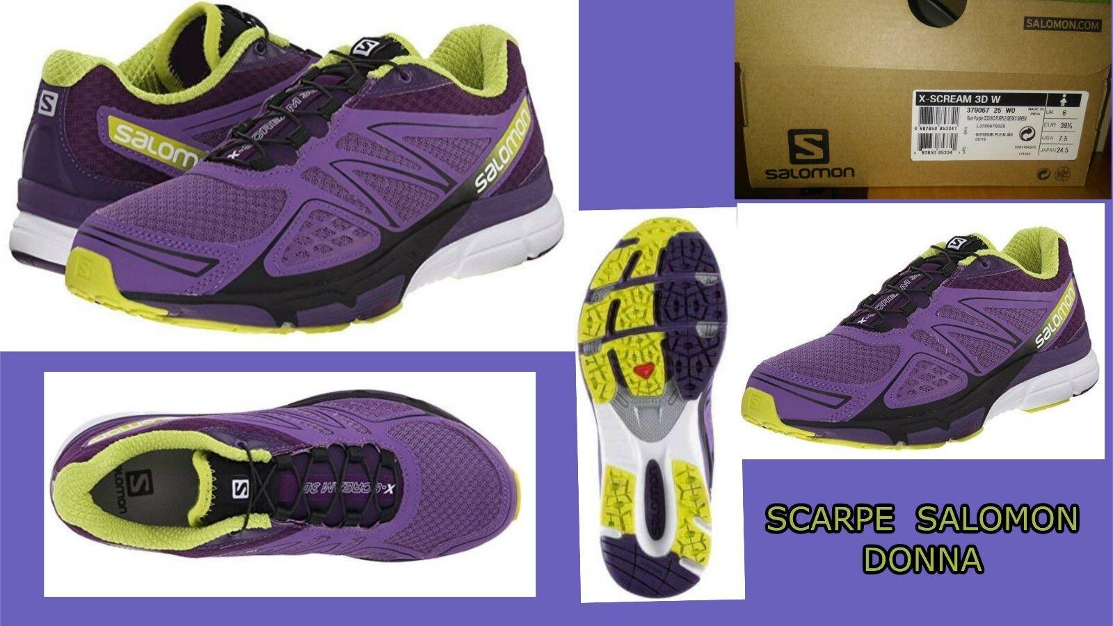 Salomon 3D X-Scream 3D Salomon W scarpe running trail donna EUR 39 1/3 , USA 7,5 79fb7d
