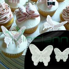 2 Stampi farfalla impressione decorazione torta dolci pasta zucchero cake design
