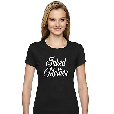 Ladies Tattoo Slogan Tee Women/'s Funny T-Shirt Inked And Awesome