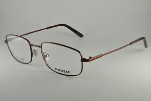 ecec1d2f84 Image is loading Fossil-Eyeglasses-ARON-N-0TR2-Brown-Size-52-