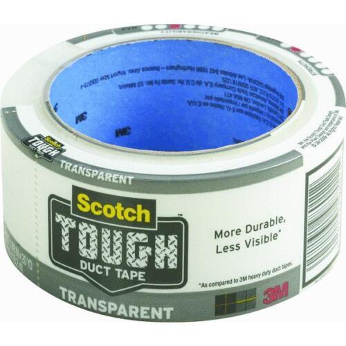 "6 Pk 3M 1.88/"" X 20 Yd Scotch Transparent Duct Tape 2120-A"