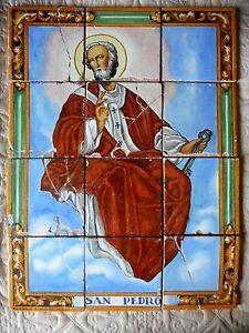 Saint pierre san pedro azulejos pintados a mano triana - Ceramica san pedro ...